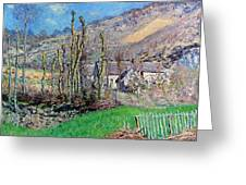 Winter At The Val De Falaise Greeting Card