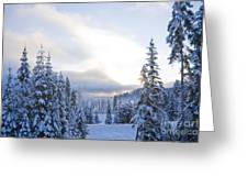 Winter Atmosphere Greeting Card