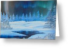 Winter Aurora Greeting Card