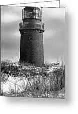 Winter Baltic Sea Lighthouse Greeting Card