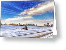 Winter Barn 3 - Paint Greeting Card