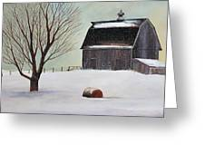 Winter Barn II Greeting Card