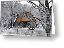 Winter Barn Iv Greeting Card
