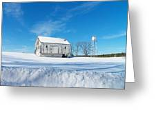Winter Barn Greeting Card by Joyce Kimble Smith