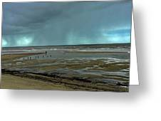 Winter Beach Greeting Card