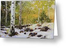 Winter Beauty Sangre De Mountain 2 Greeting Card