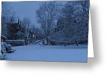 Winter Blue Britain Greeting Card