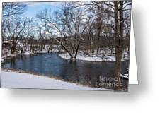 Winter Blue James River Greeting Card