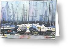 Winter Blues, Sal Boats, Boating Paintings, Boat Paintings, Boat Prints Greeting Card