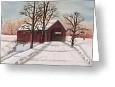 Winter Bridge Greeting Card