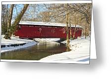 Winter Bridge  Greeting Card