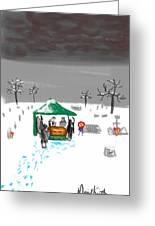 Winter Burial Greeting Card