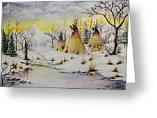 Winter Camp Greeting Card