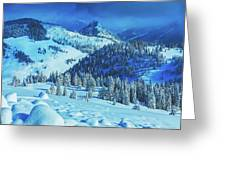 Winter Canvas Greeting Card