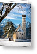 Winter Church In Bavaria Greeting Card