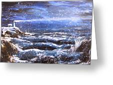 Winter Coastal Storm Greeting Card
