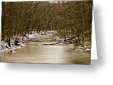 Winter Creek Greeting Card