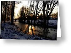 Winter Creek H B Greeting Card