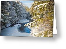 Winter Creek In Morning Light Greeting Card