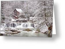 Winter Day At The Mill  Greeting Card
