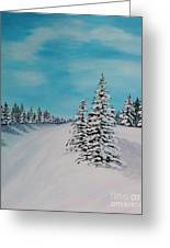 Winter Day Duvet Digital Painting Greeting Card