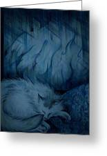Winter Day Napping Greeting Card