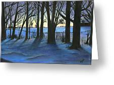 Winter Day's End Greeting Card