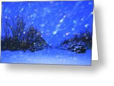Winter Diamonds Greeting Card by Julie Lueders