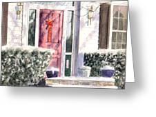 Winter Door Greeting Card
