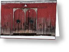 Winter Doors Greeting Card