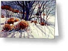 Winter Drifts Greeting Card