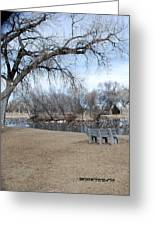 Winter Duck Pond Greeting Card