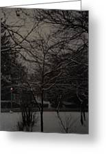 Winter Dusk Greeting Card