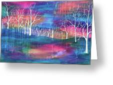 Winter Embraces Spring Greeting Card
