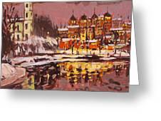 Winter Eve Greeting Card