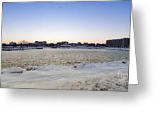 Winter Evening In Racine Greeting Card