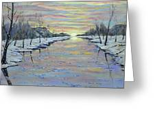 Winter Expression Sunrise Greeting Card