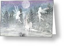 Winter Fairy Magic Greeting Card