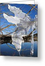 Winter Fairy Wings Greeting Card