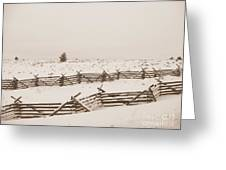 Winter Fence In Oregon Greeting Card