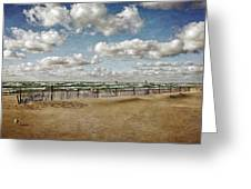 Winter Fences In Grand Haven 3.0 Greeting Card