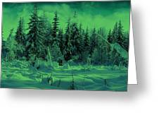 Winter Forest Dream At Dusk Greeting Card