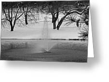 Winter Fountain Greeting Card