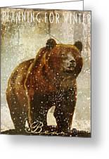 Winter Game Bear Greeting Card
