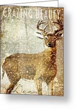 Winter Game Deer Greeting Card