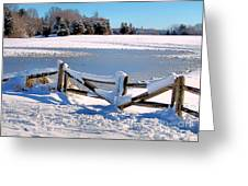 Winter Gate Greeting Card