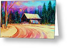 Winter Getaway Greeting Card