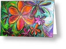 Winter Glow Flower Painting Greeting Card