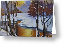 Winter Gold Greeting Card