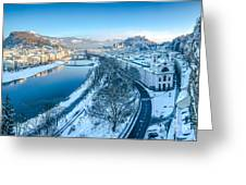 Winter Greetings From Salzburg Greeting Card